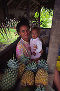 Fruit stand, Bora Bora, French Polynesia (editorial use only, no model release)<br />
