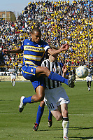 Parma 18/4/2004 Campionato Italiano Serie A <br />30a Giornata - Matchday 30 <br />Parma Juventus 2-2 <br />Matteo Ferrari (Parma) and Pavel Nedved (Juventus)<br /> Foto Graffiti