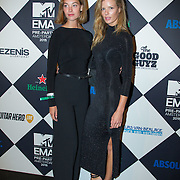NLD/Amsterdam/20151012 - MTV EMA Pre Party, Elise van t Zand en Marlijn Hoek