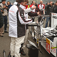 Porsche Team before the race at Silverstone 6h, 2014
