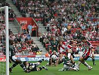 Photo: Lee Earle.<br /> Southampton v Plymouth Argyle. Coca Cola Championship. 16/09/2006. Southampton's Grzegorz Rasiak (2ndR) scores their opening goal.