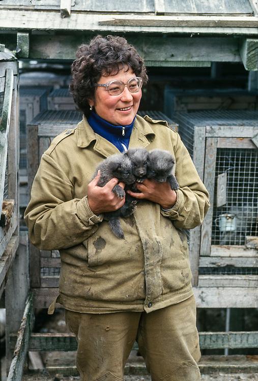 Fox farm manger, Village of Sireniki, Chukotsk Peninsula, Northeast Russia