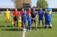 Mascot during the EFL Sky Bet League 1 match between AFC Wimbledon and Bristol Rovers at the Cherry Red Records Stadium, Kingston, England on 19 April 2019.
