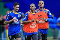 20090603: TERESOPOLIS, BRAZIL - Brazil National Team preparing match against Uruguay. In picture: Alexandre Pato, Robinho and Luis Fabiano. PHOTO: CITYFILES