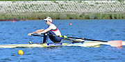 Reading. United Kingdom. GBR W1X, Victoria THORNLEY. Morning time Trial, 2014 Senior GB Rowing Trails, Redgrave and Pinsent Rowing Lake. Caversham.<br /> <br /> 09:00:43  Saturday  19/04/2014<br /> <br />  [Mandatory Credit: Peter Spurrier/Intersport<br /> Images]