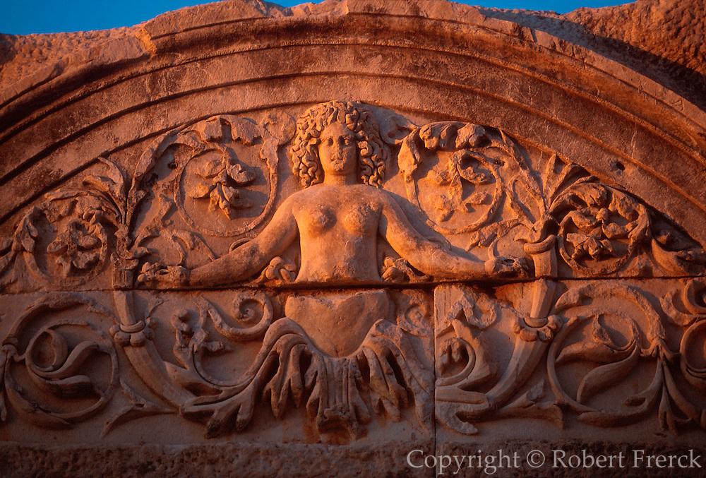 TURKEY, ROMAN, EPHESUS Hadrian's Temple, 'Medusa' head