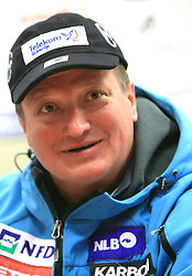 Bozo Jaklin at press conference of Women Slovenian alpine team before the World Championship in Val d'Isere, France, on January 26, 2009, in Ljubljana, Slovenia. (Photo by Vid Ponikvar / Sportida).