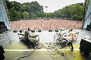 Disclosure performing at Lollapalooza in Chicago, Illinois on Friday, August 2, 2013.
