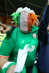 Republic of Ireland fans celebrate in the stands after the final whistle of the 2018 FIFA World Cup Qualifying Group D match at the Cardiff City Stadium, Cardiff. PRESS ASSOCIATION Photo. Picture date: Monday October 9, 2017. See PA story SOCCER Wales. Photo credit should read: Nigel French/PA Wire. RESTRICTIONS: Editorial use only, No commercial use without prior permission.