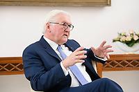 02 FEB 2021, BERLIN/GERMANY:<br /> Frank-Walter Steinmeier, Bundespraesident, waehrend einem Interview, Robert-Blum-Saal, Schloss Bellevue<br /> IMAGE: 20210202-01-009<br /> KEYWORDS: BUndespräsident