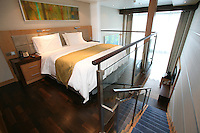 The launch of Royal Caribbean International's Oasis of the Seas, the worlds largest cruise ship..Staterooms,.Crown Loft Suite