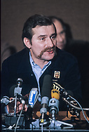 Lech Walesa president of solidarnosc from Poland visit Paris at the invitation of CFDT union . oct 1981