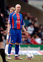 Photo: Daniel Hambury.<br />Crystal Palace v Leeds United. Coca Cola Championship. 04/03/2006.<br />Palace's Andrew Johnson shows his frustion as his side lose.