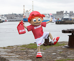 Sunny's tour of Scotland. At Aberdeen Harbour.