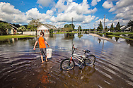 Flooded home in Lutcher, Louisiana.