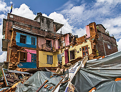 © London News Pictures. 30/04/201530th April 2015: A M7.9 earthquake struck on Saturday 25th April, causing widespread devastation across the country creating an international humanitarian emergency. Here in the remote village of Sindhupalchowk more than 60% of buildings have been destroyed or made uninhabitable. Photo Credit: Sam Spikett/LNP