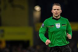 Dommer Jens Maae under kampen i 3F Superligaen mellem Brøndby IF og Lyngby Boldklub den 1. marts 2020 på Brøndby Stadion (Foto: Claus Birch).