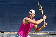 Rafael Nadal practicing during the Mallorca Open at Country Club Santa Ponsa on June 17, 2019 in Mallorca, Spain. Photo Credit: Katja Boll/EVENTMEDIA.