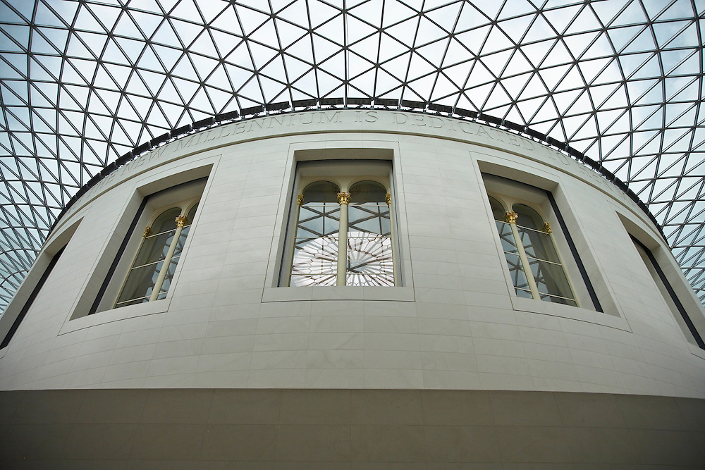 Victoria and Albert Museum_London, photographed by Wayne Cable, Chicago photographer.  Norman Foster designed enclosure of entry garden.