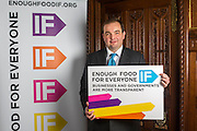 James Duddridge MP supporting the Enough Food for Everyone?IF campaign. .MP's and Peers attended the parliamentary launch of the IF campaign in the State Rooms of Speakers House, Palace of Westminster. London, UK.