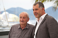 Glaciologist/Actor Claude Lorius and Director Luc Jacquet <br /> at the Ice And The Sky - La Glace Et Le Ciel at the film photo call at the 68th Cannes Film Festival Saturday 23rd May 2015, Cannes, France.