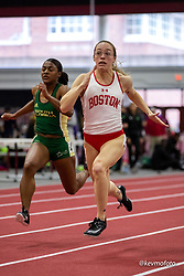 Harvard University<br /> Crimson Elite Indoor track & field meet<br /> womens 60m qualifying, Gerstenbacher, Cecelia