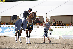 Jurado Lopez Severo Jesus, (ESP), Fiontini<br /> First Qualifying Competition 5year old horses<br /> World Championship Young Dressage Horses - Verden 2015<br /> © Hippo Foto - Dirk Caremans<br /> 06/08/15