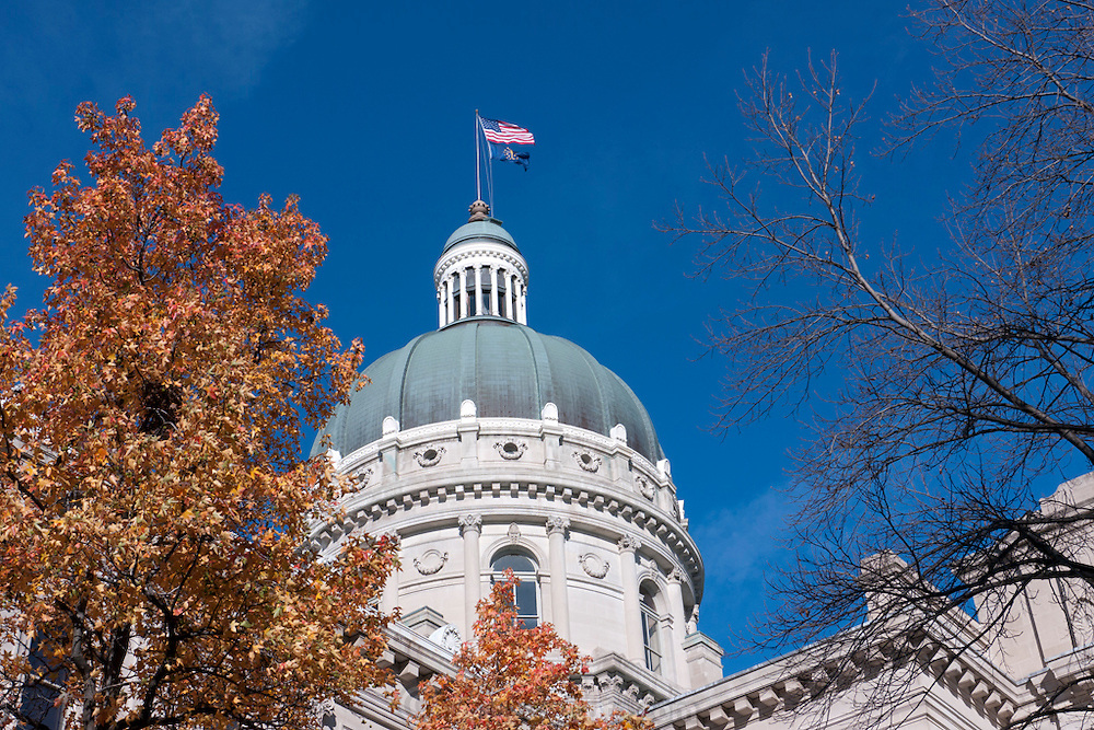 Indianapolis, Indiana. State capital building.