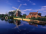 Hunsett Mill stands by the river Ant, Norfolk Broads