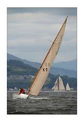 Sunshine, a 6 metre built in 1929, sailed by Helen Sandiford and an all girl crew during the third race from Helensburgh to Rothesay...This the largest gathering of classic yachts designed by William Fife returned to their birth place on the Clyde to participate in the 2nd Fife Regatta. 22 Yachts from around the world participated in the event which honoured the skills of Yacht Designer Wm Fife, and his yard in Fairlie, Scotland...FAO Picture Desk..Marc Turner / PFM Pictures
