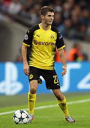 File photo dated 13-09-2017 of Borussia Dortmund's Christian Pulisic.