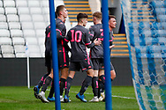 Leeds United celebrate a final minute goal from Leeds United Bryce Hosannah (2) to make the score 2-2 during the U23 Professional Development League match between U23 Sheffield Wednesday and U23 Leeds United at Hillsborough, Sheffield, England on 3 February 2020.