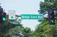 Medgar Evers blvd and Martin Luther King blvd in Jackson MS are know as   'Freedom conner '.