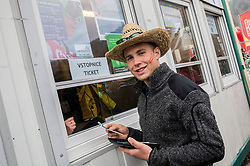 Supporter of Austria buying tickets during Ski Flying Hill Men's Team Competition at Day 3 of FIS Ski Jumping World Cup Final 2017, on March 25, 2017 in Planica, Slovenia. Photo by Vid Ponikvar / Sportida