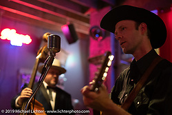 Jason Moss and The Hosses play their Honky Tonk music at the Congregation Show after party at the Tipsy Burro Saloon & Cantina in Charlotte, NC. USA. Friday April 13, 2018. Photography ©2018 Michael Lichter.