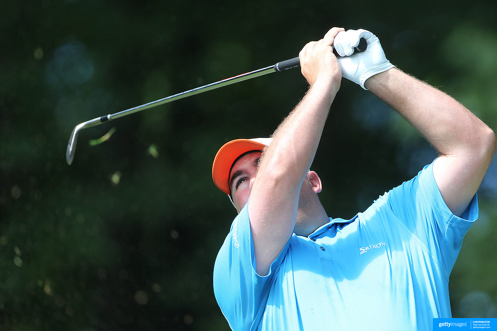 Kevin Stadler, USA, in action during the third round of the Travelers Championship at the TPC River Highlands, Cromwell, Connecticut, USA. 21st June 2014. Photo Tim Clayton
