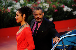 Actor Laurence Fishburne and Gina Torres arriving for the screening of 'Contagion' during the 68th Venice International Film Festival, Mostra Internazionale d'Arte Cinematografica, at Palazzo del Cinema in Venice, Italy, on September 1, 2011. Photo by Aurore Marechal/ABACAPRESS.COM  | 288219_012 Venise Venice Italie Italy