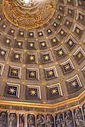 The star-filled dome of the Siena Duomo, Siena, Tuscany, Italy.