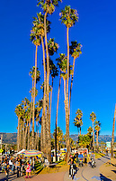 Cabrillo Boulevard, Santa Barbara, California USA.