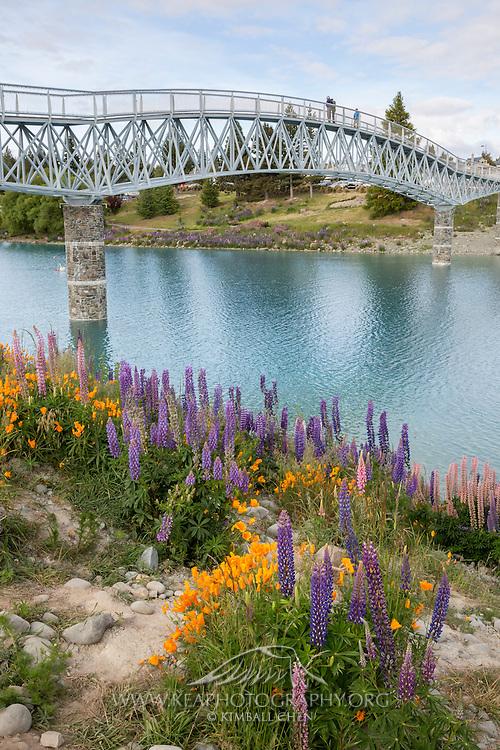 Lake Tekapo's new footbridge, New Zealand