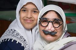 Pupils having fun at the Nottingham Islamia school Eid Fair,
