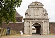Entrance gateway arch to Tilbury Fort, Tilbury, Thurrock, Essex, England, UK