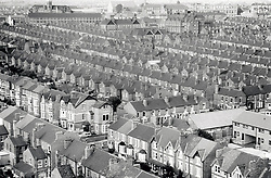 Victorian terraced houses, New Basford, Nottingham UK 1985