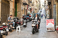 Scooter in a street in Naples, Italy © Rudolf Abraham