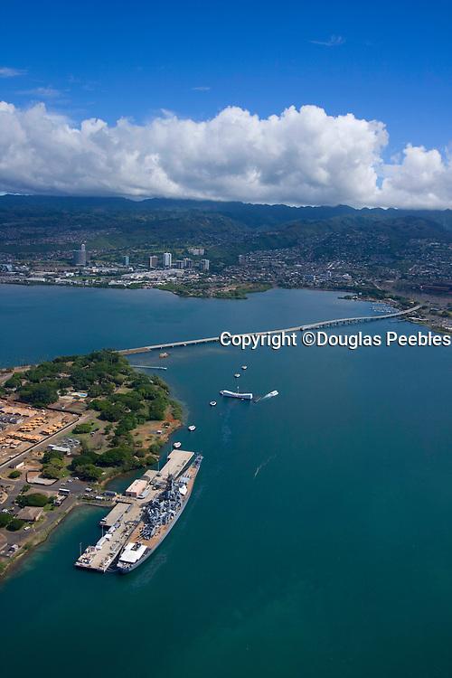 USS Missouri and Arizona, Pearl Harbor, Honolulu, Hawaii