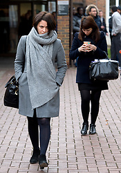 ©  London News Pictures. 25/11/2013. London, UK. Italian Sisters Elisabetta 'Lisa' (left) and Francesca (right) Grillo, who are the former personal assistants to Charles Saatchi and Nigella  Lawson, outside Isleworth Crown Court in London during a lunch break. The pair, who face fraud charges, are accused of misappropriating funds while working for Saatchi and Lawson. Photo credit : Ben Cawthra/LNP