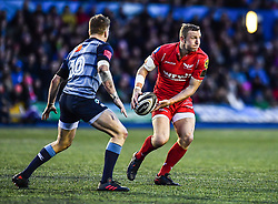 Scarlets' Hadleigh Parkes in action - Mandatory by-line: Craig Thomas/Replay images - 31/12/2017 - RUGBY - Cardiff Arms Park - Cardiff , Wales - Blues v Scarlets - Guinness Pro 14
