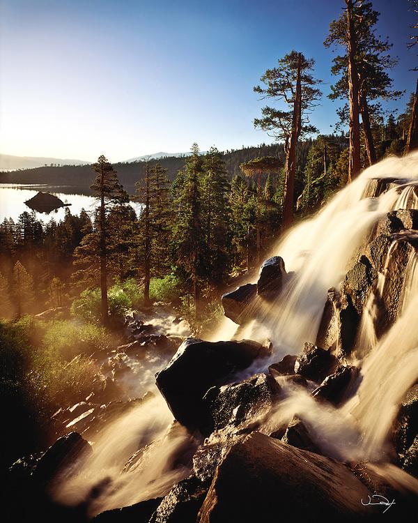 Lake Tahoe Scenic Eagle Falls at Emerald Bay Lake Tahoe