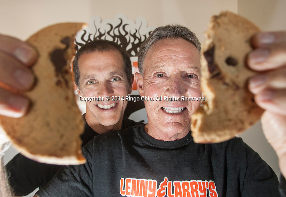 Don Croutch, left, and Barry Turner, founder and president of nutrition supplement maker Lenny and Larry's. (Photo by Ringo Chiu/PHOTOFORMULA.com)