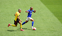 Football - 2019 / 2020 Premier League - Watford vs. Leicester City<br /> <br /> Leicester City's Youri Tielemans holds off the challenge from Watford's Roberto Pereyra, at Vicarage Road.<br /> <br /> COLORSPORT/ASHLEY WESTERN